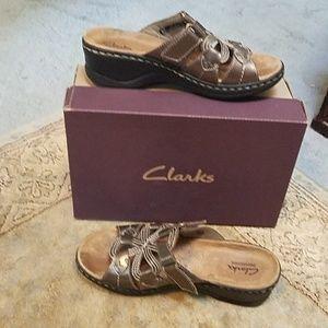 Clarks Wedged Sandals